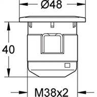 Single push button for Older Villeroy Boch Cistern